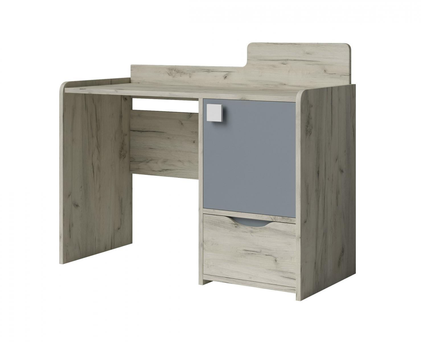 Smiffy 02 psací stůl dub craft/grafit