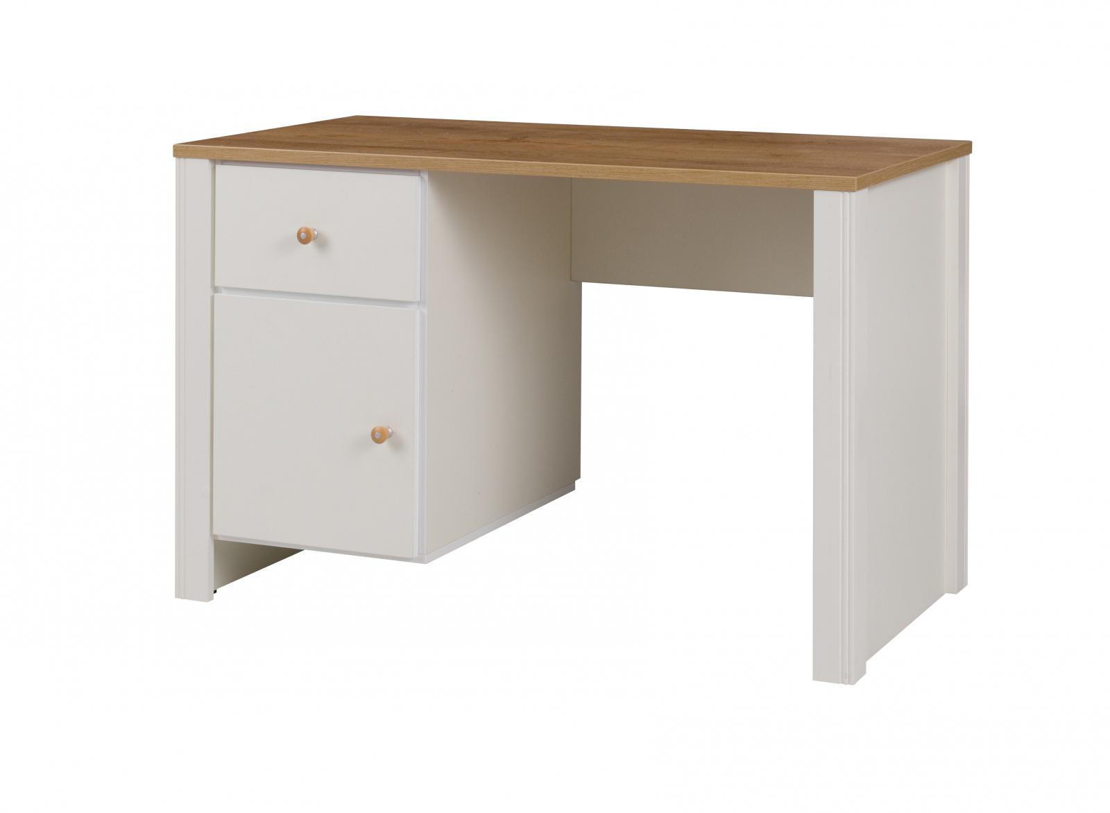 Psací stůl Bergamo BRG 6 dub zlatý/crem