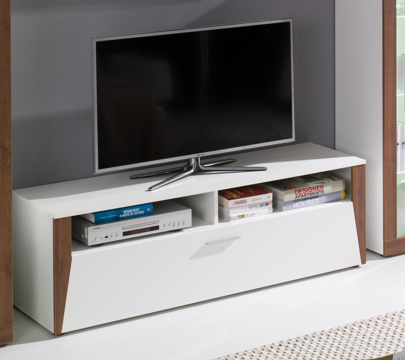 TV stolek Piass bílá/ořech