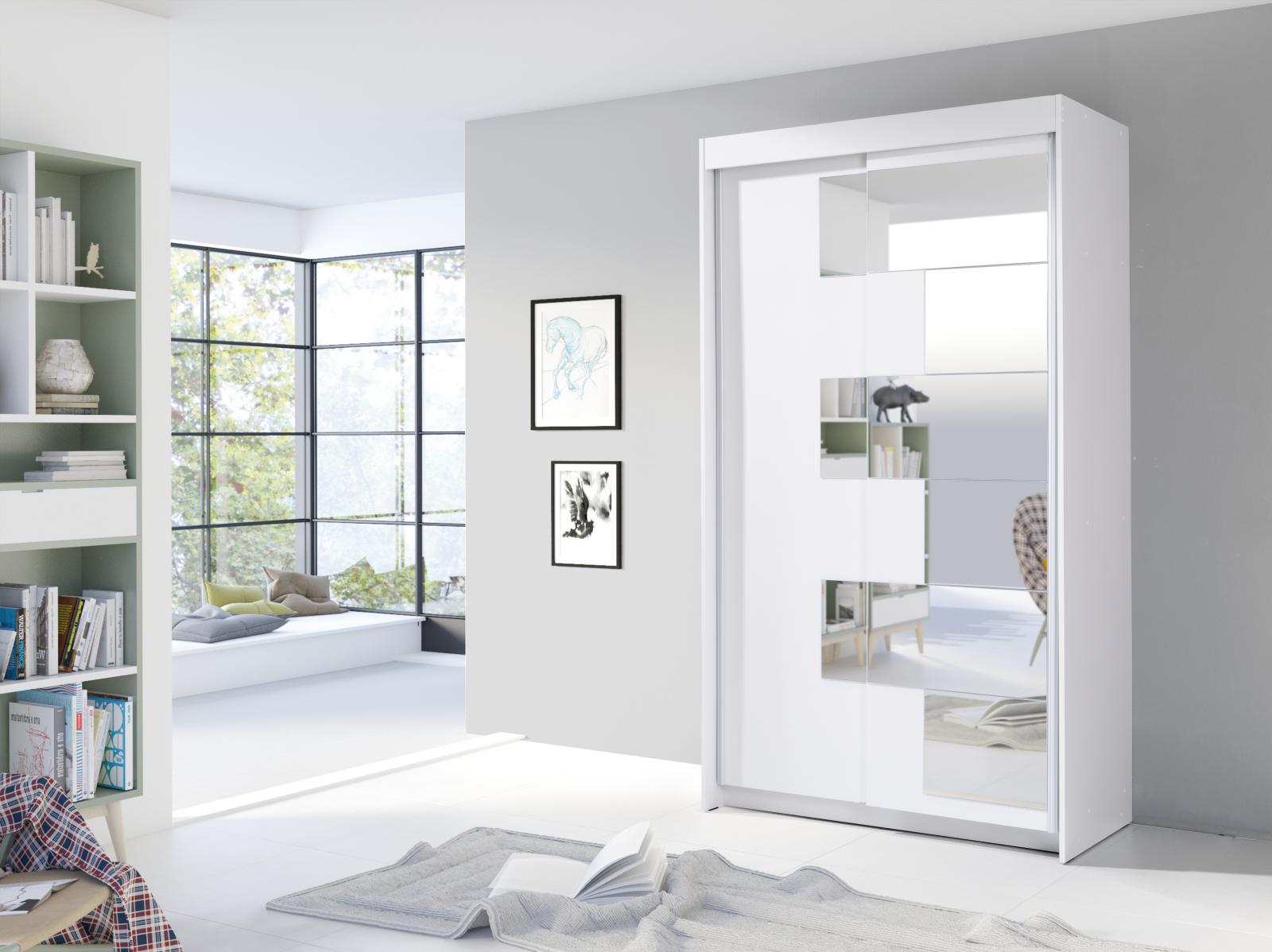 Šatní skříň Szarlota bílá