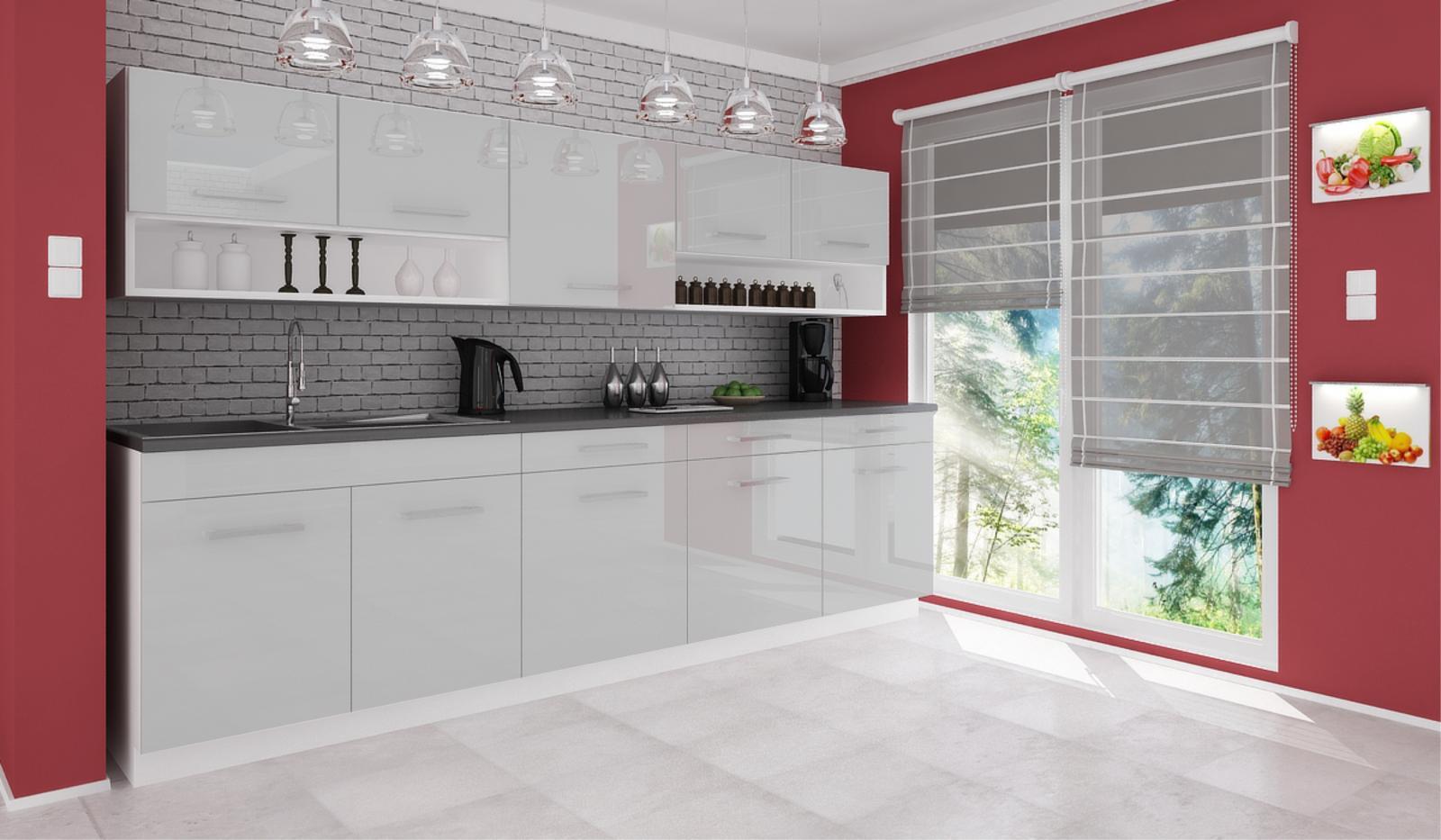 Kuchyňská linka Devil 260 šedý lesk
