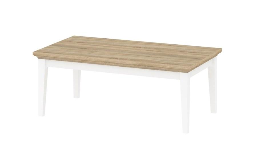 Konferenční stolek Provence 872 bílá/dub