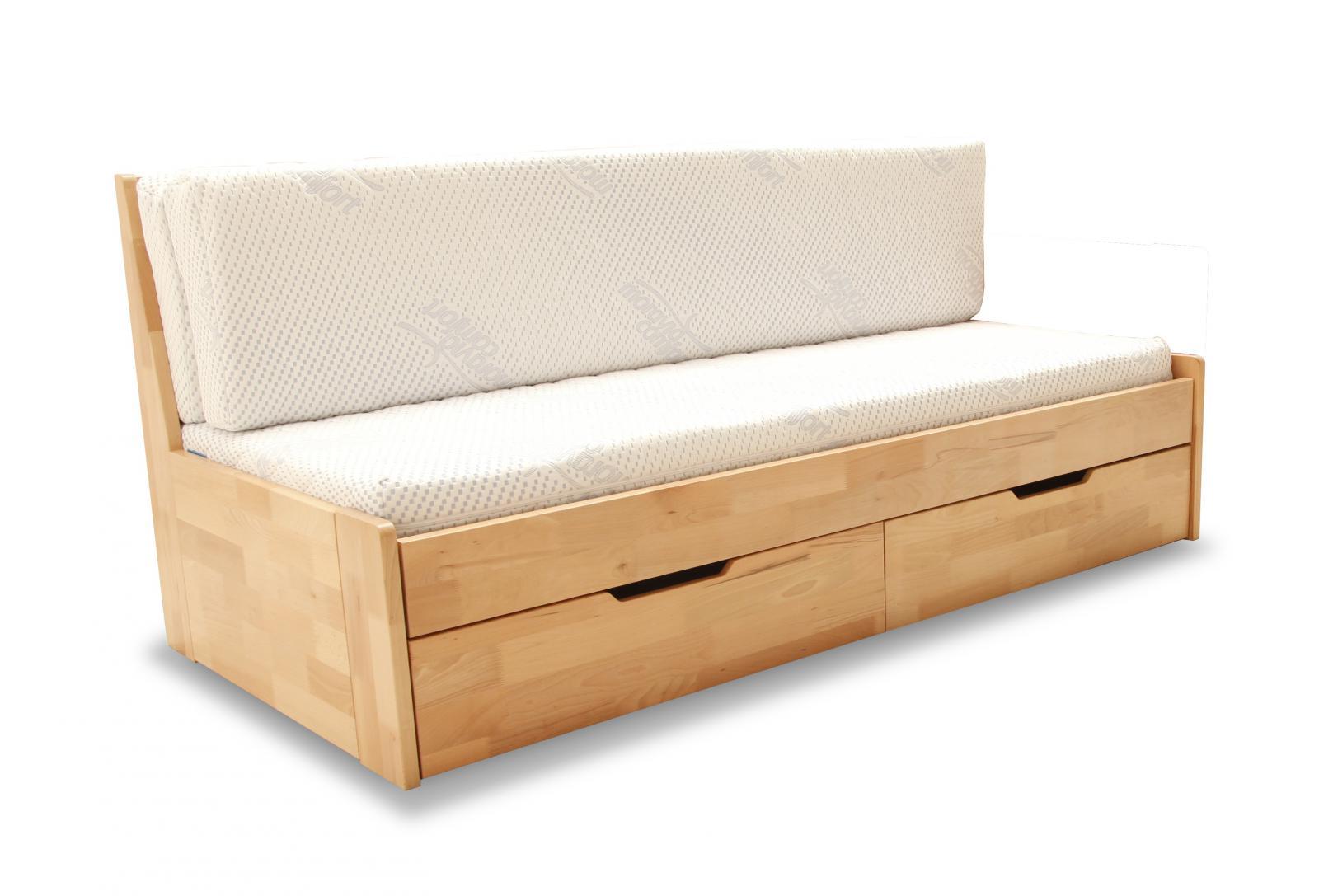 Dřevěná rozkládací postel Duette A buk