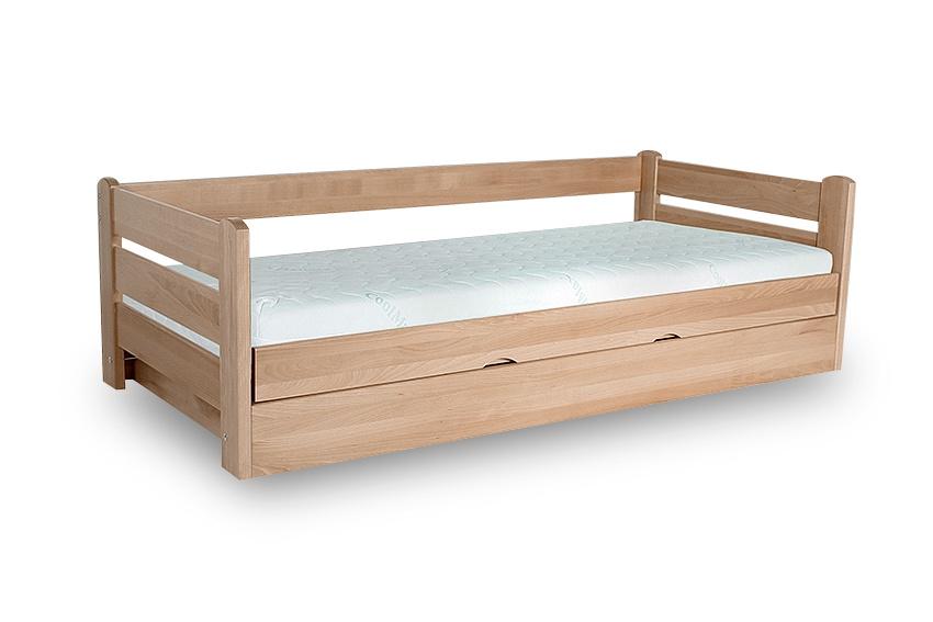 Dřevěná postel Dreamer 100x200 bílá