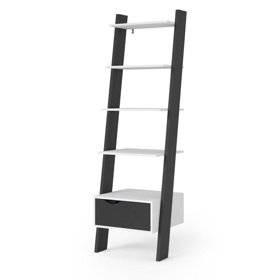 Regál Retro 385 bílá/černá
