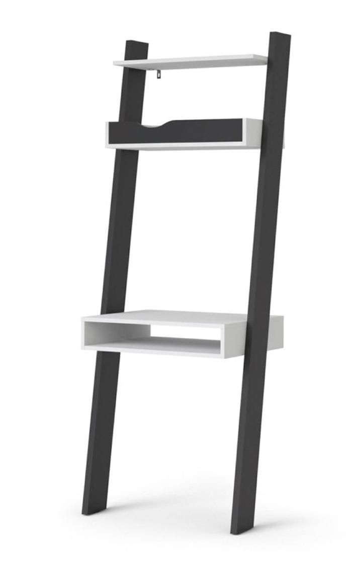 Regál Retro 389 bílá/černá