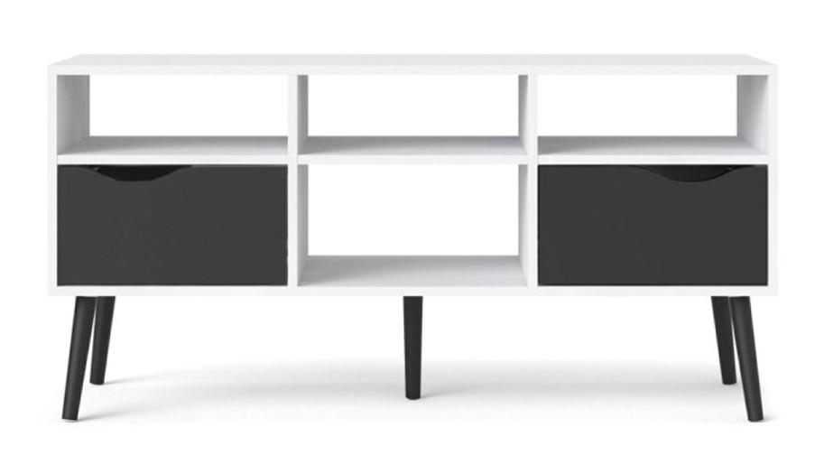 TV stolek Retro 391 bílá/černá