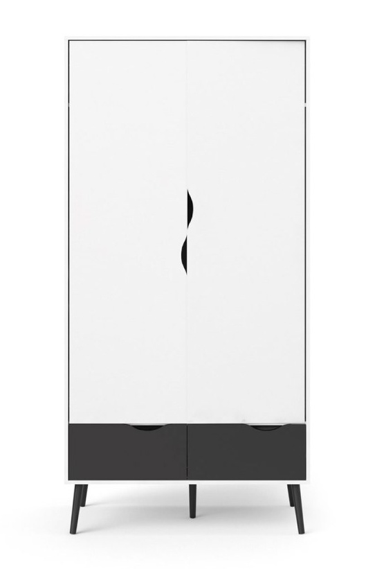 Skříň Retro 396 bílá/černá