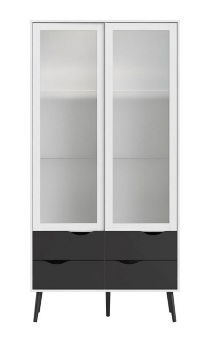 Vitrína Retro 462 bílá/černá