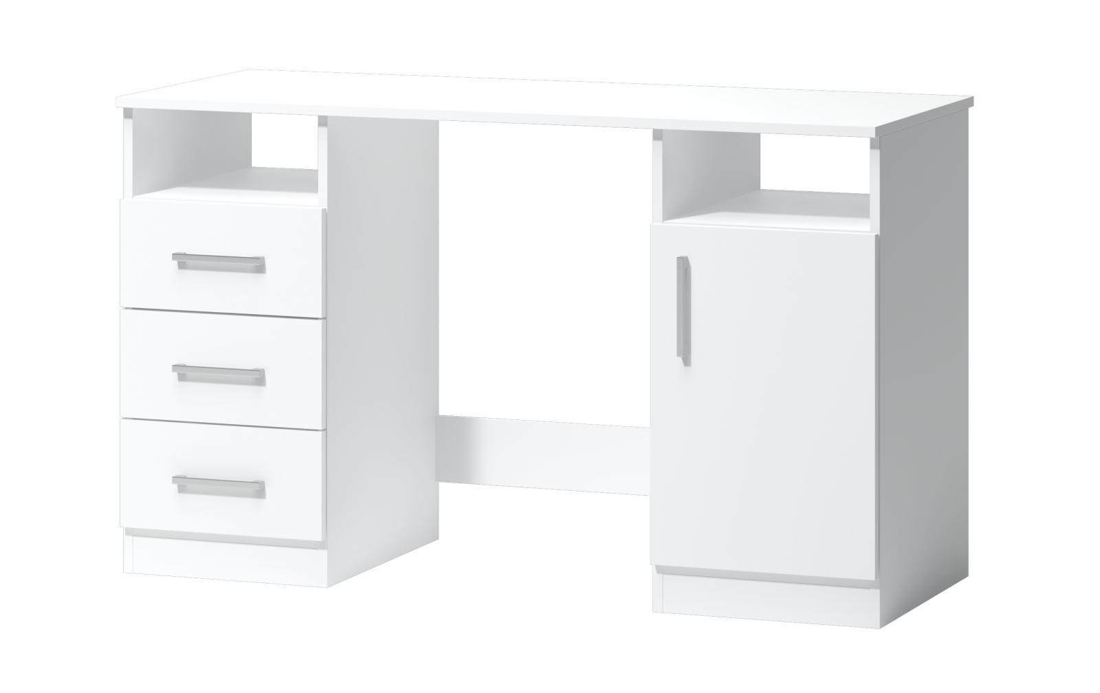 Psací stůl Fatra 16 1d3s bílý