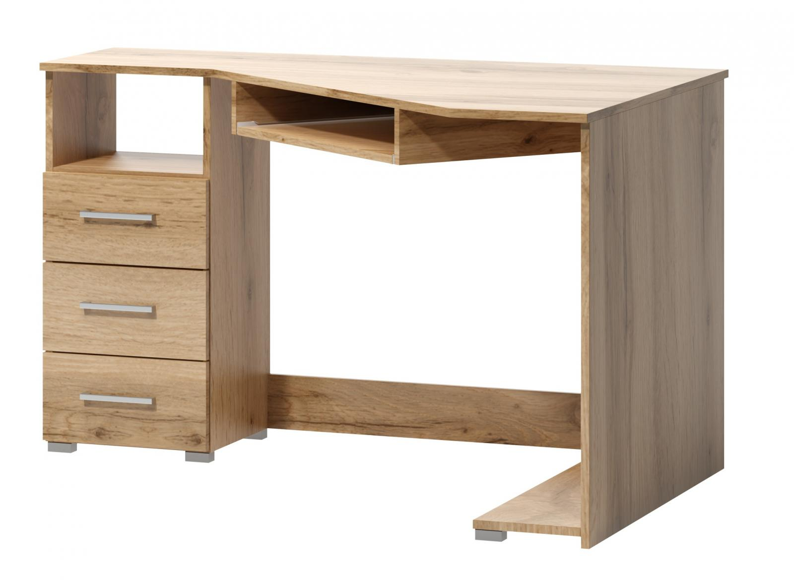 Rohový psací stůl Fatra 17 levý dub wotan