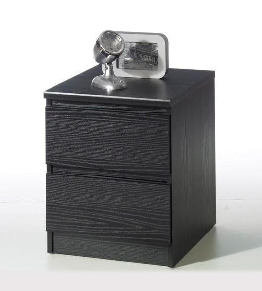Noční stolek Simplicity 291 černý woodgrain