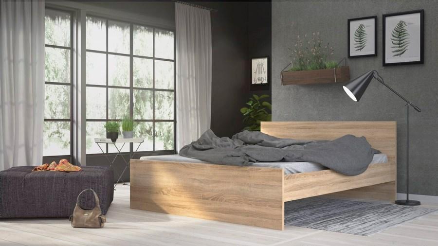Postel Simplicity 213 160x200 cm oak
