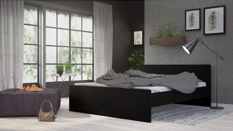 Postel Simplicity 213 160x200 cm černá MAT