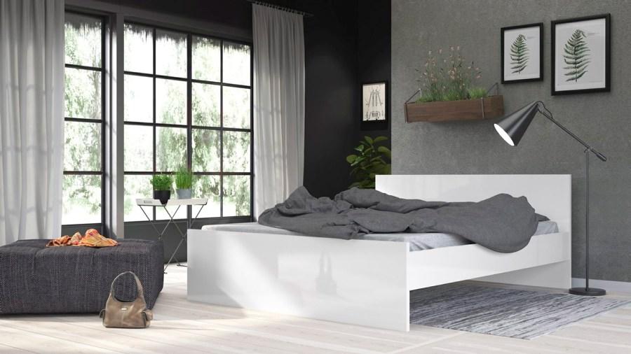Postel Simplicity 213 160x200 cm bílý lesk