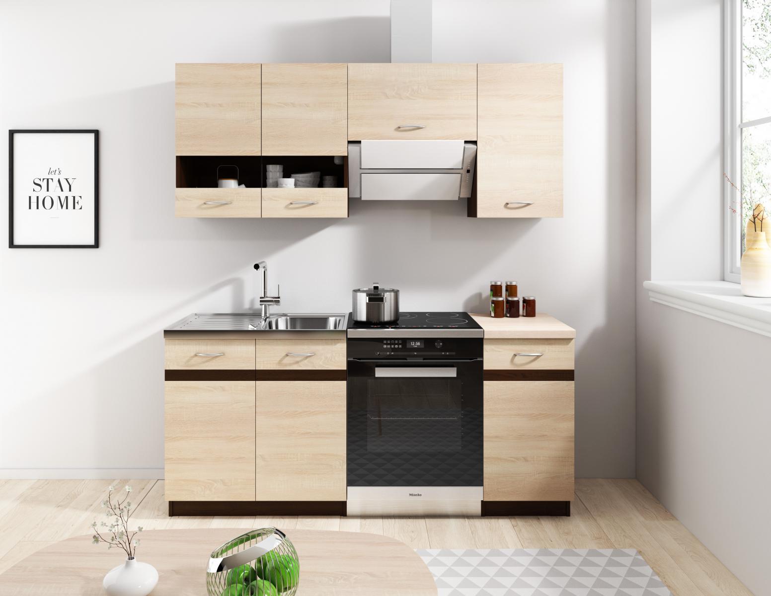 Kuchyňská linka Largo 120/180 dub sonoma světlá