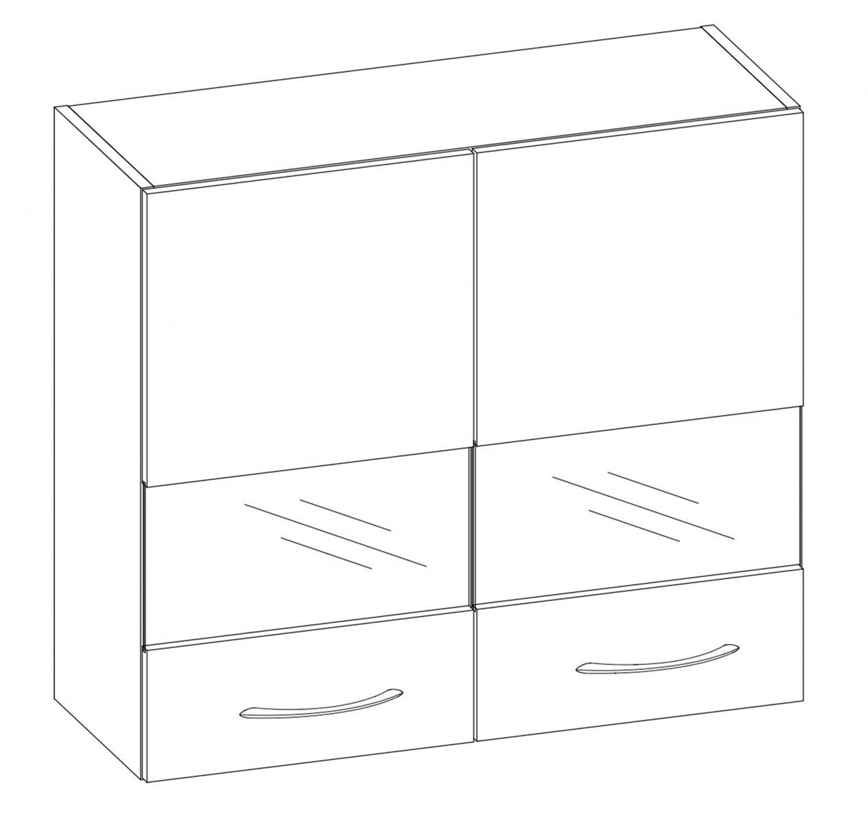 Kuchyňská skříňka Largo 01/G80W sonoma světlá