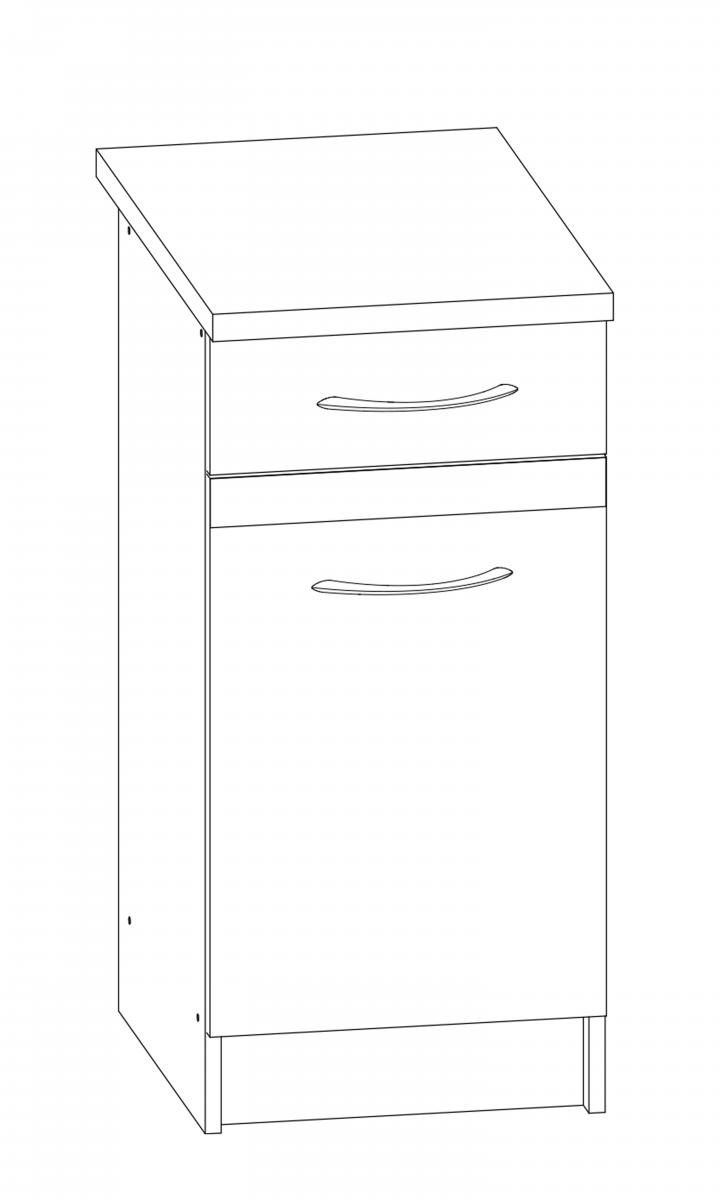Kuchyňská skříňka Largo 10/D40S1 sonoma světlá