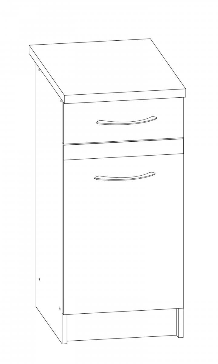 Kuchyňská skříňka Largo 10/D40S1 sonoma tmavá