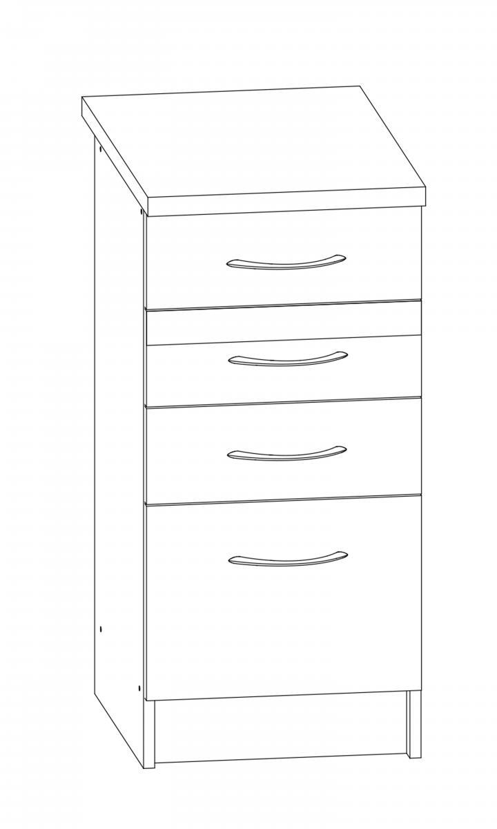 Kuchyňská skříňka Largo 13/D40S4 sonoma světlá