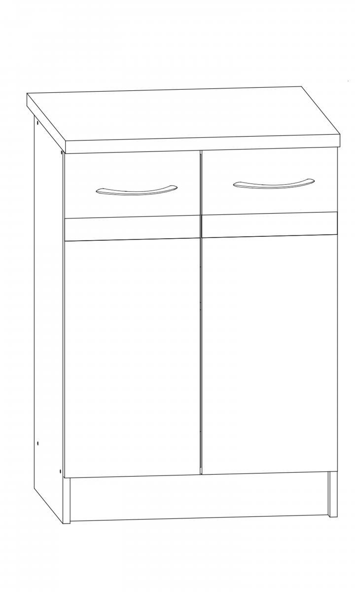 Kuchyňská skříňka Largo 11/D60 sonoma světlá