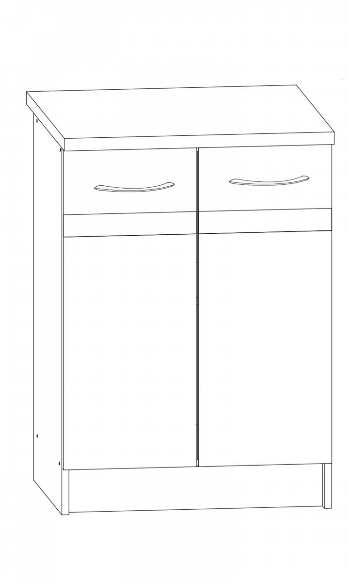 Kuchyňská skříňka Largo 11/D60 sonoma tmavá