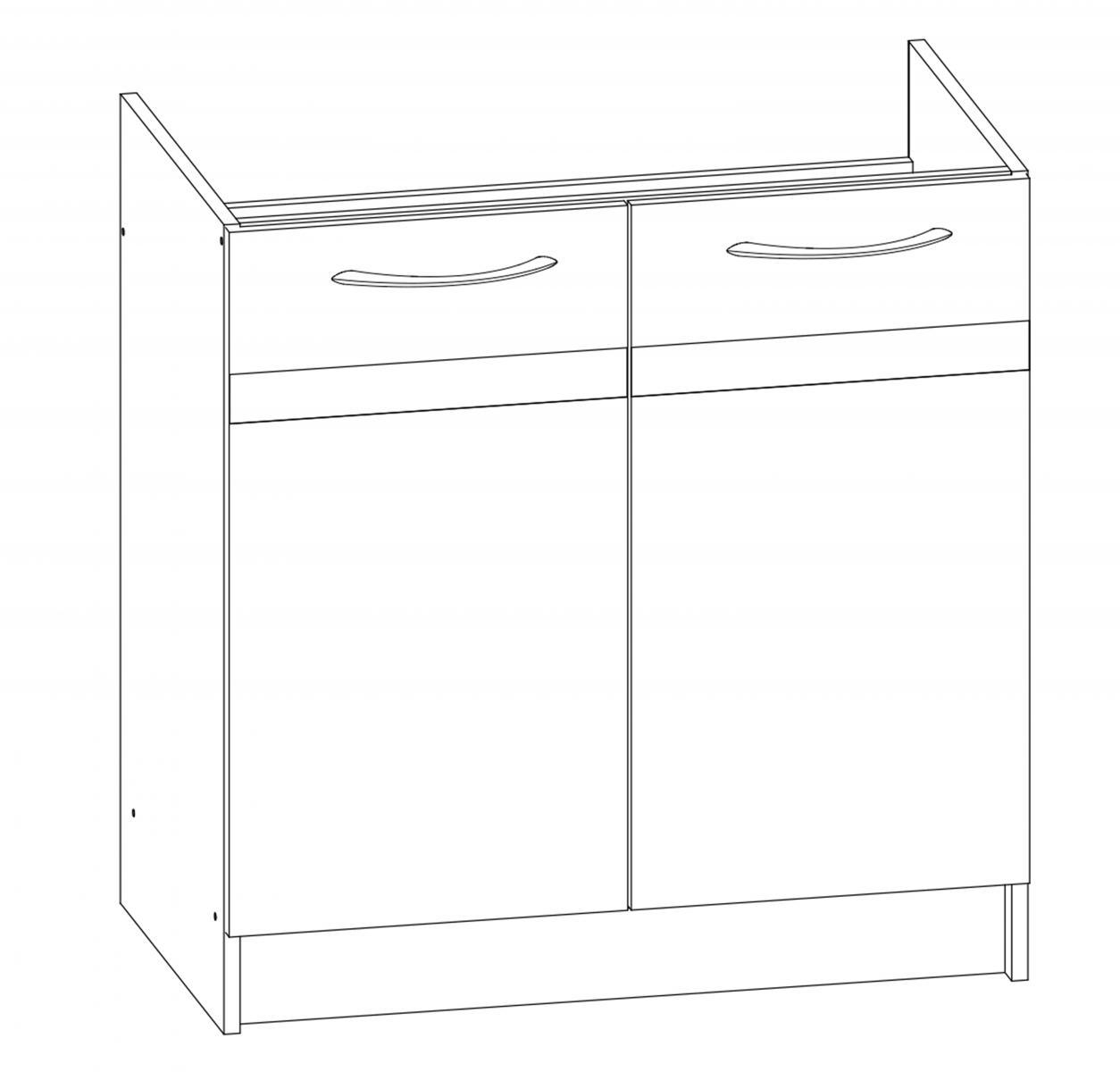 Kuchyňská skříňka Largo 09/D80Z sonoma tmavá