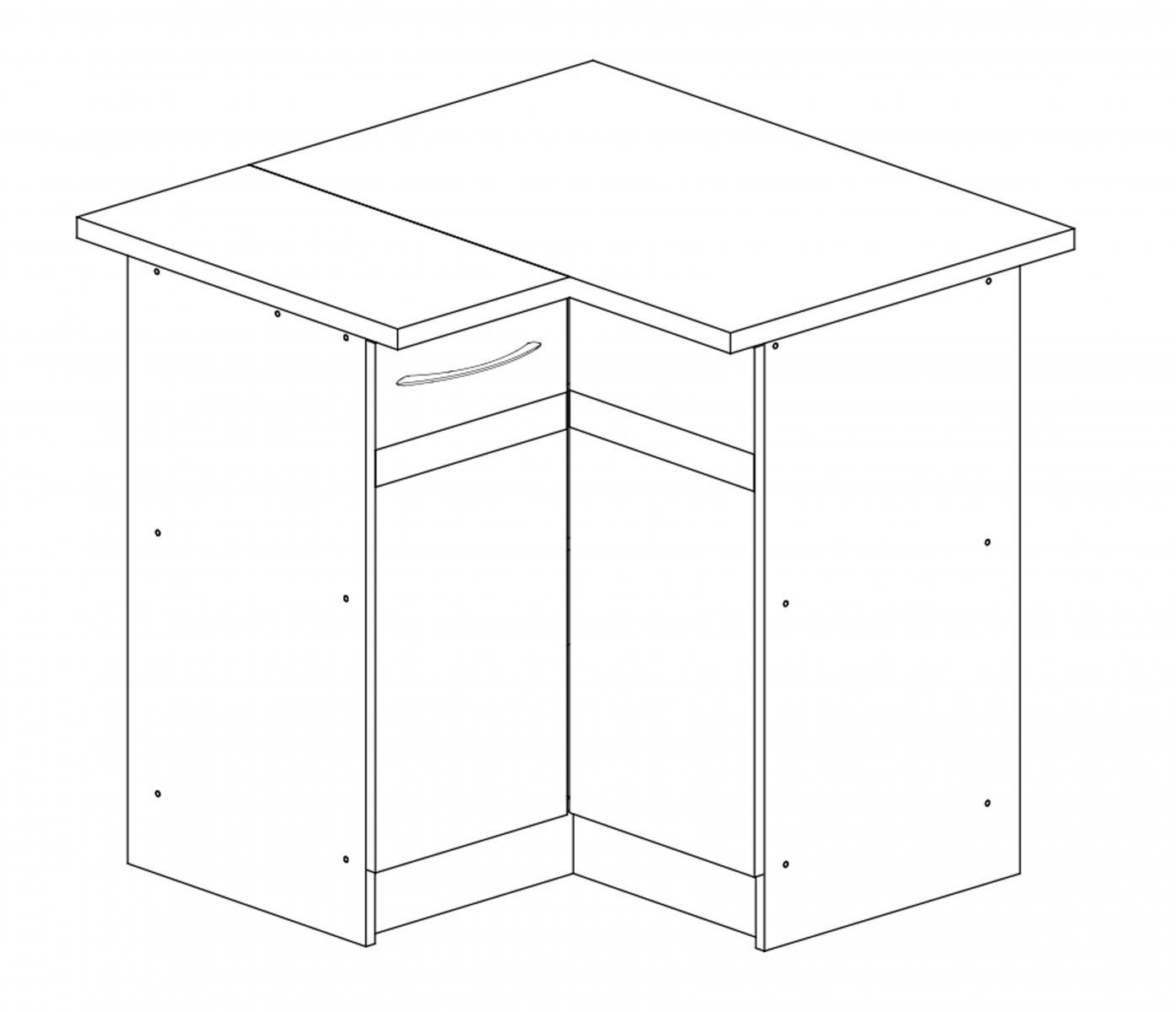 Kuchyňská skříňka Largo 12/D90N P sonoma tmavá