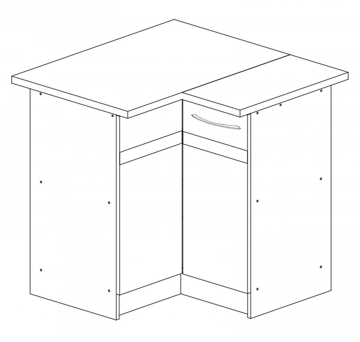 Kuchyňská skříňka Largo 12/D90N L sonoma tmavá