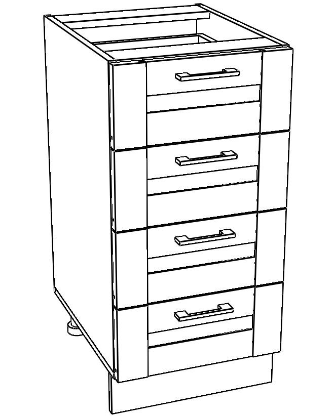Kuchyňská skříňka Kingston 12/D40S4 dub wotan