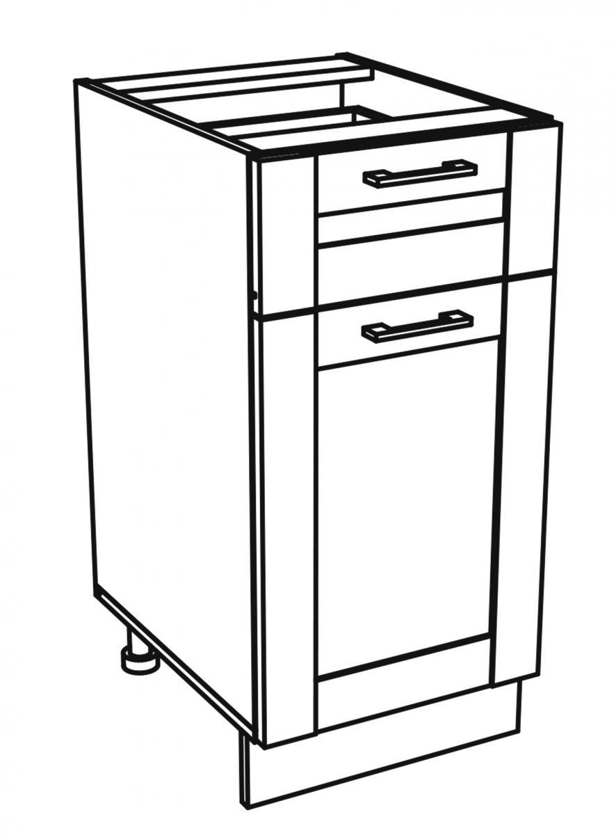 Kuchyňská skříňka Kingston 13/D40S1 dub wotan