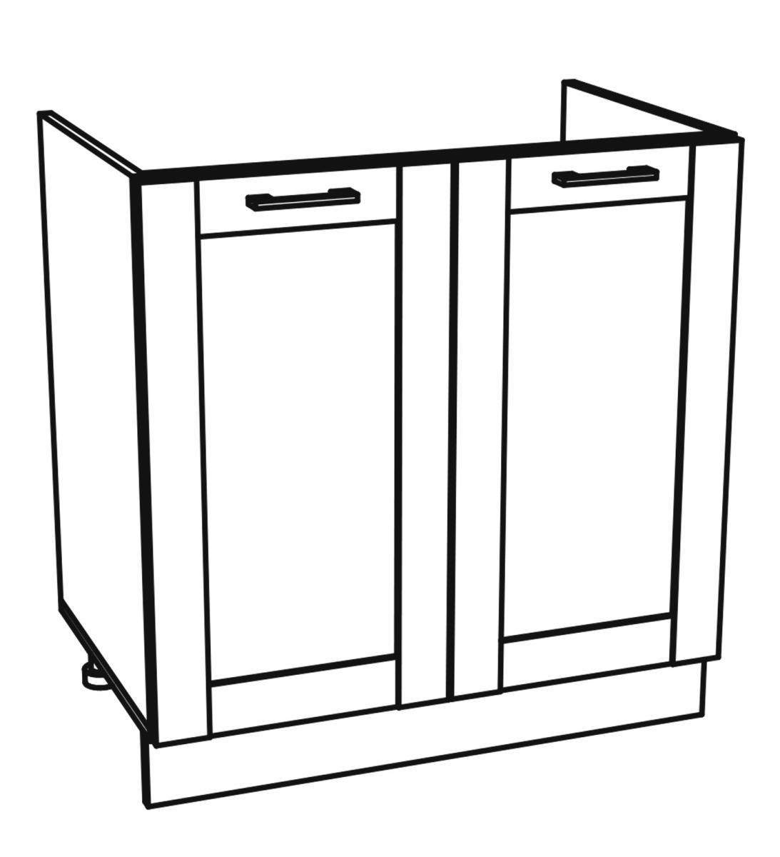 Kuchyňská skříňka Kingston 19/D80Z dub wotan