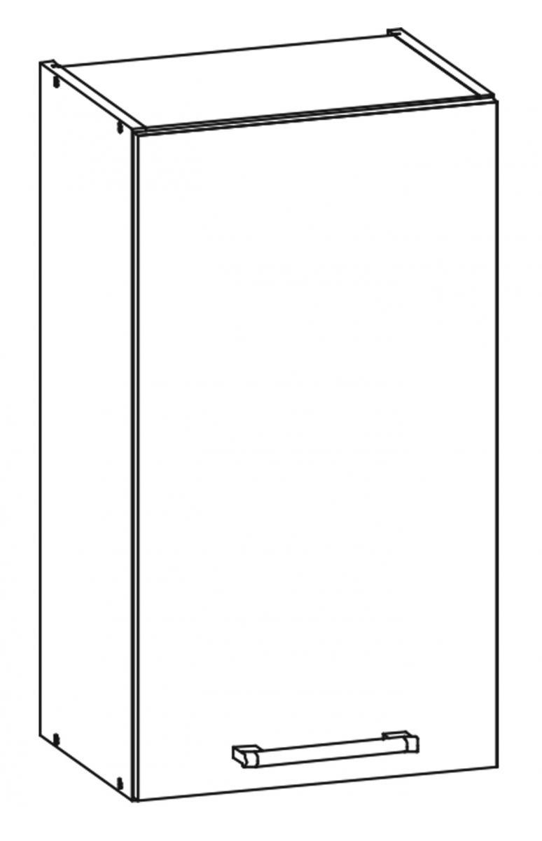 Kuchyňská skříňka Sergio 03/G40 bílá/bílý lesk