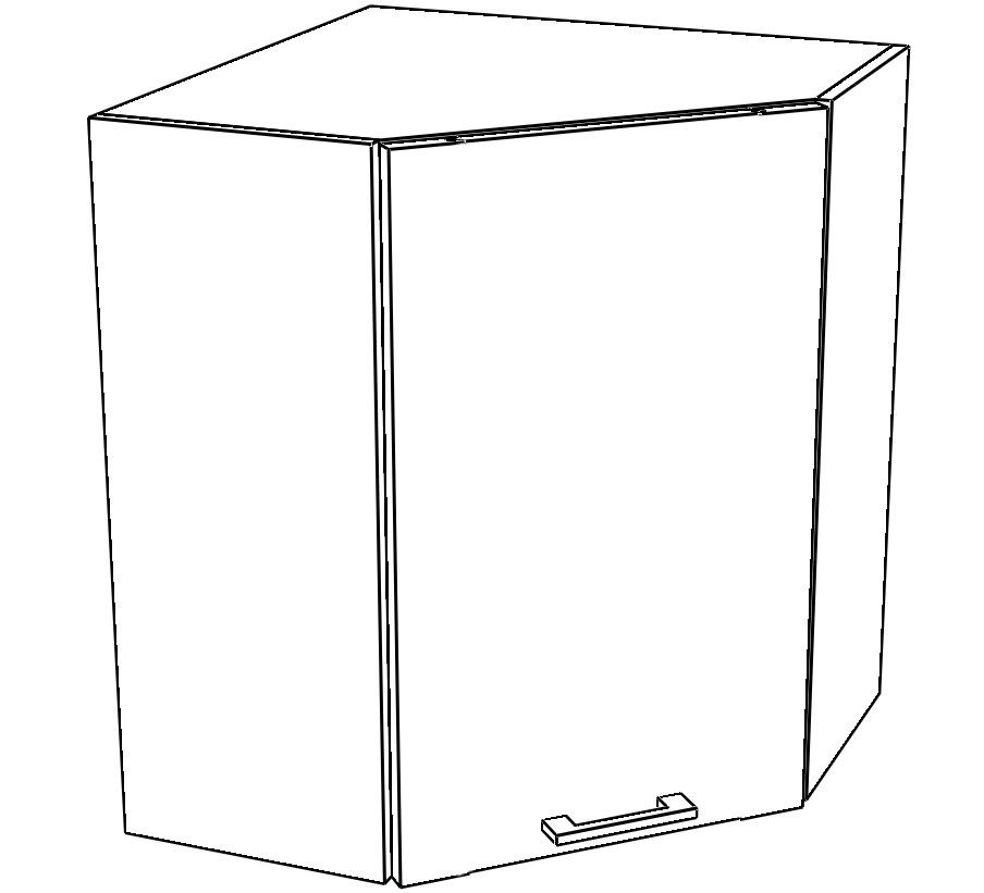 Kuchyňská skříňka Sergio 10/G60NW bílá/bílý lesk