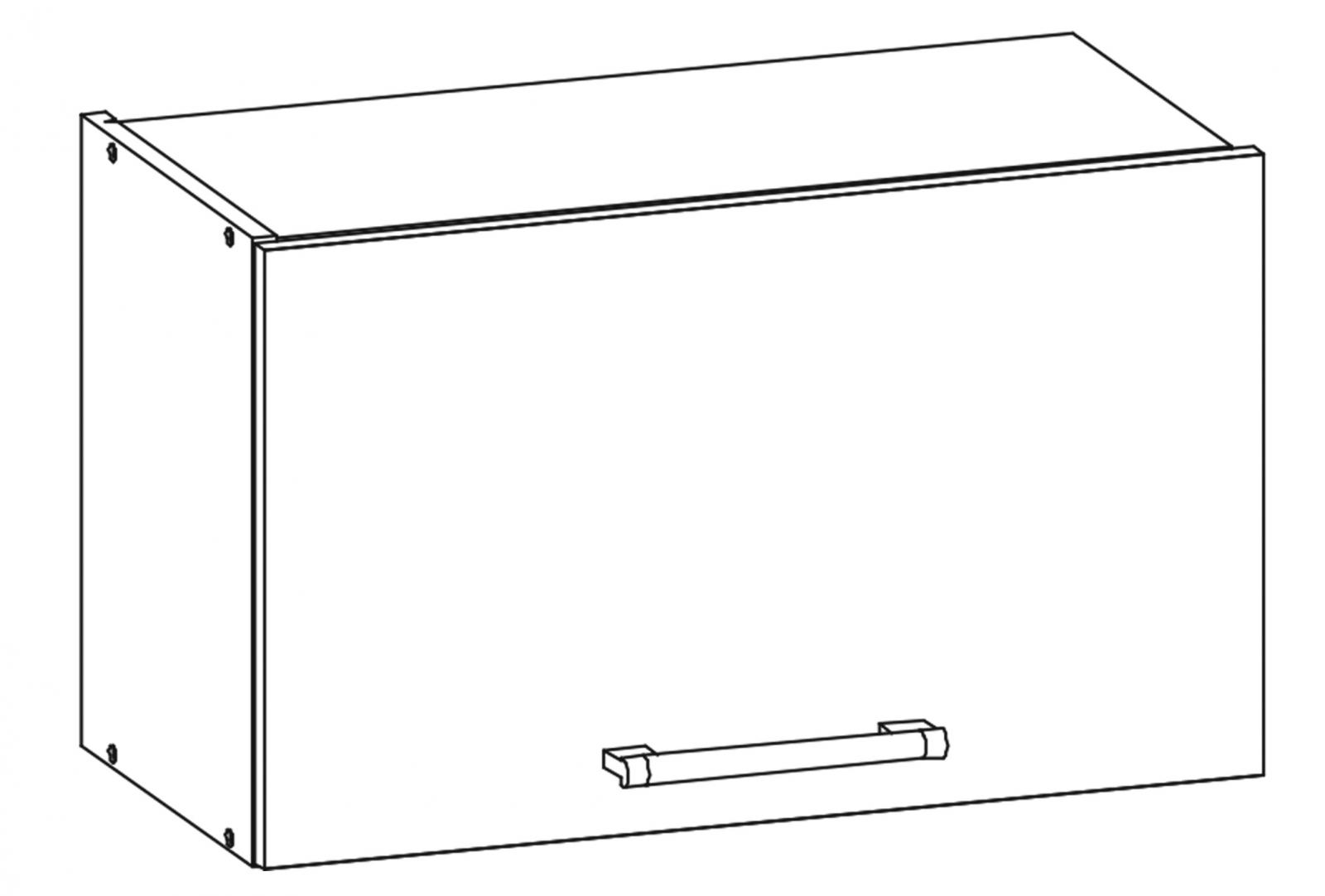 Kuchyňská skříňka Sergio 07/G60o bílá/bílý lesk
