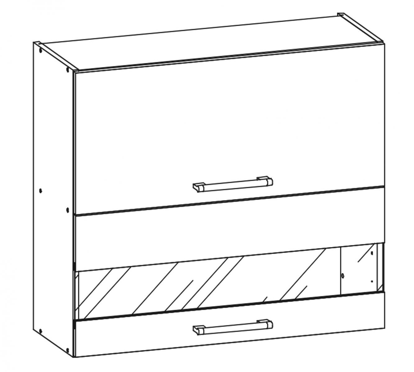 Kuchyňská skříňka Sergio 09/G80Wo bílá/bílý lesk