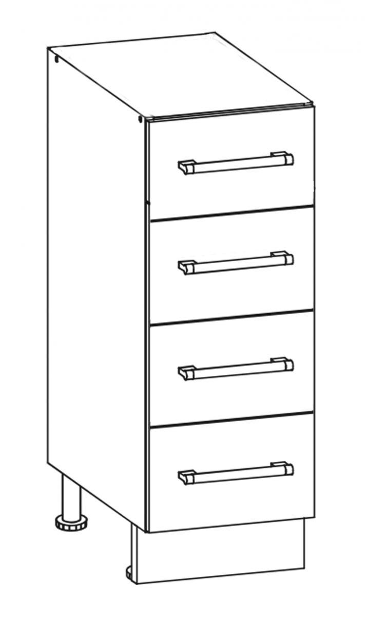 Kuchyňská skříňka Sergio 12/D40S4 bílá/bílý lesk