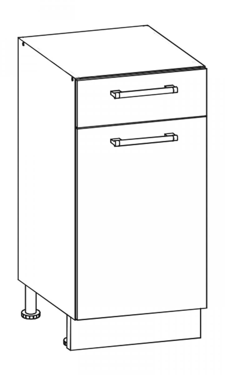 Kuchyňská skříňka Sergio 13/D40S1 dub San Remo/bílá