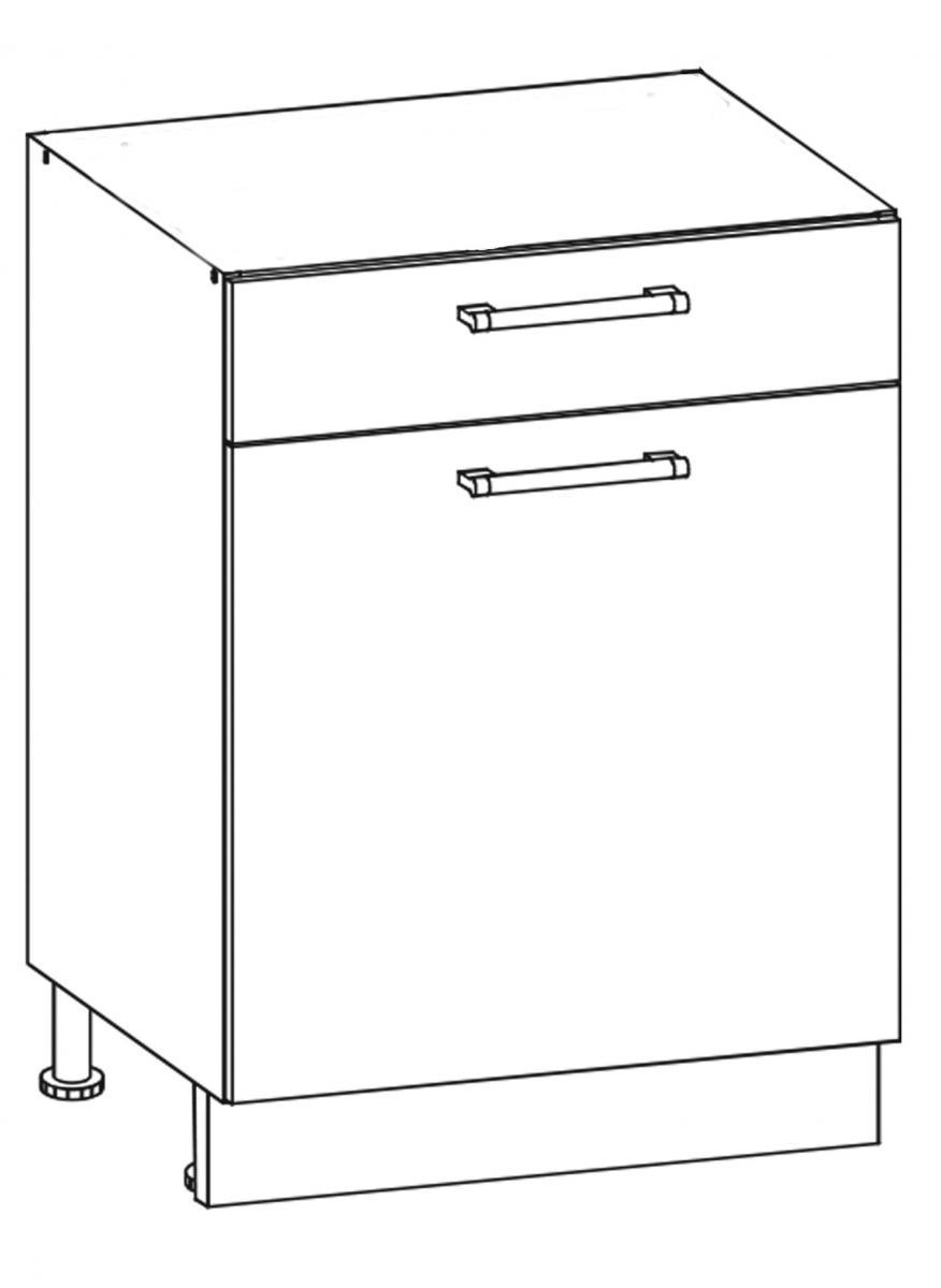 Kuchyňská skříňka Sergio 16/D60S1 bílá/bílý lesk