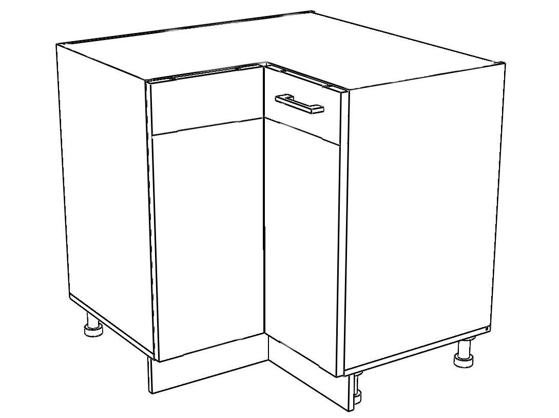 Kuchyňská skříňka Sergio 21/D90NW dub San Remo/bílá