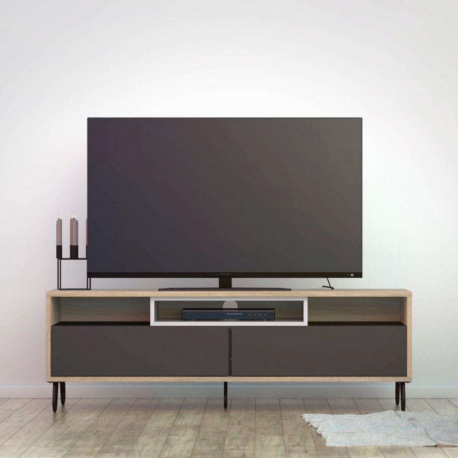 TV stolek Mateo 992 oak/grey/bílá