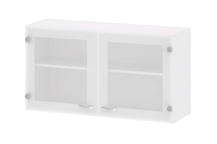Kuchyňská skříňka Cassie 518 bílá/sklo