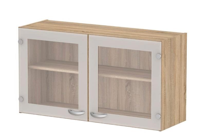 Kuchyňská skříňka Cassie 518 oak/sklo