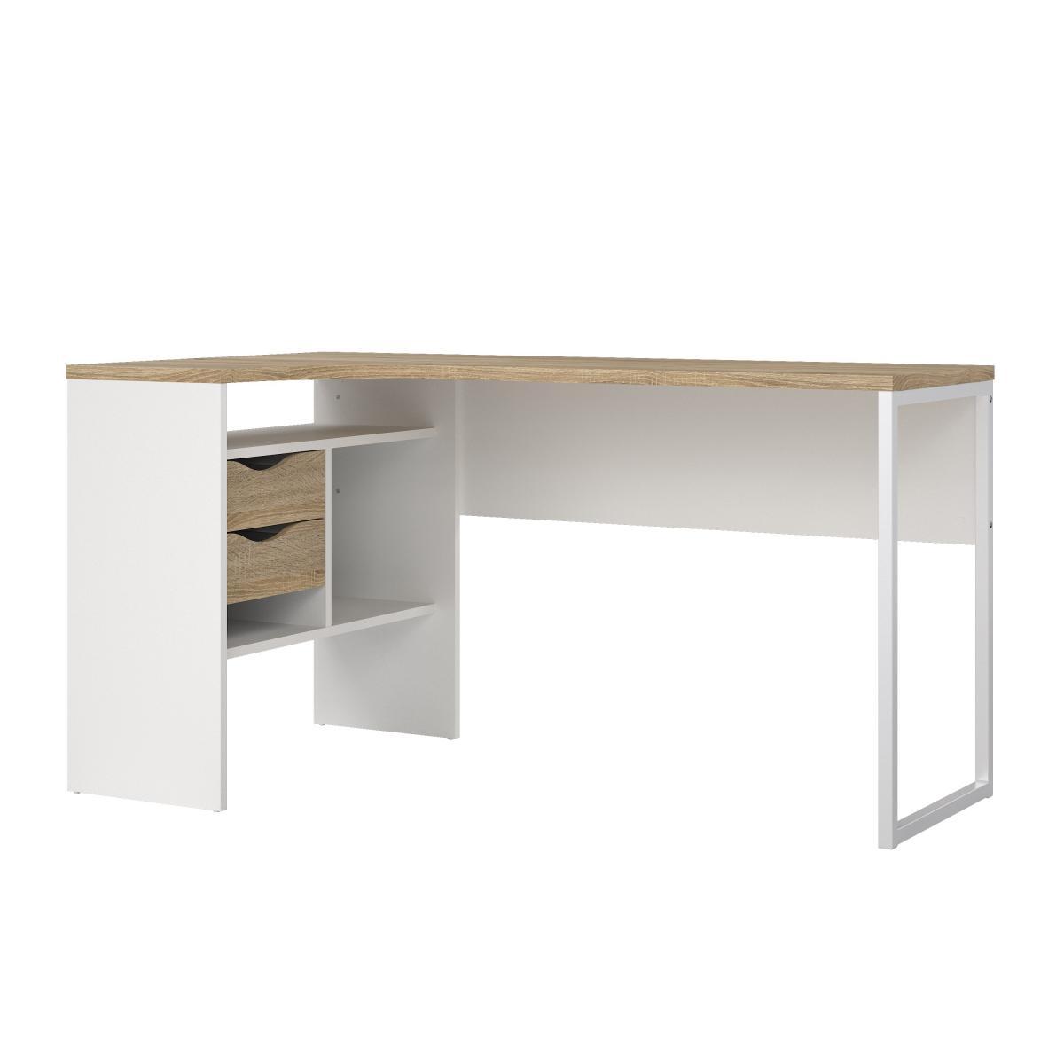 Psací stůl Felix 118 bílá/oak