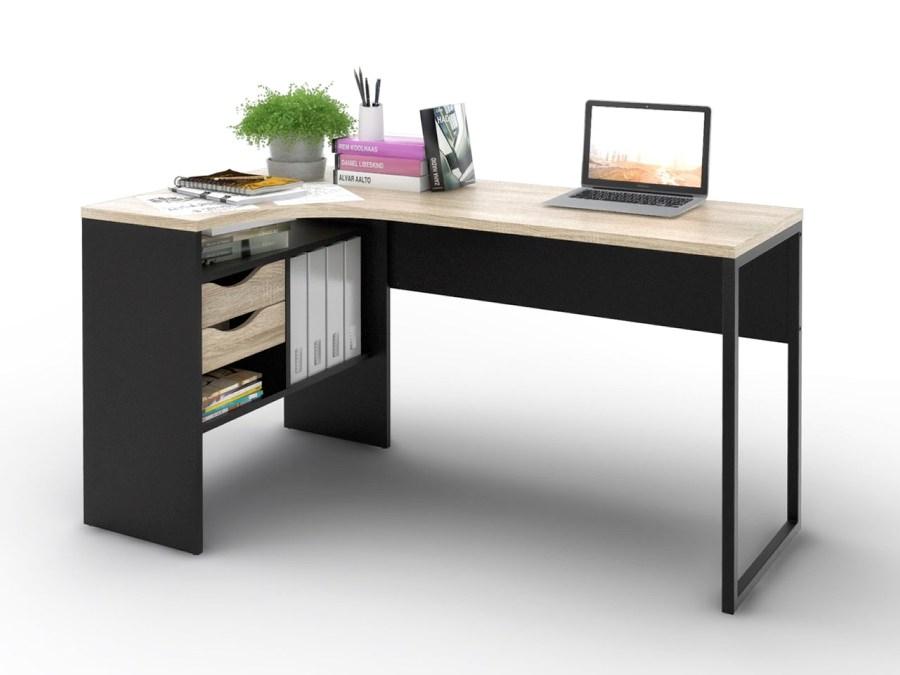 Psací stůl Felix 118 černá MAT/oak