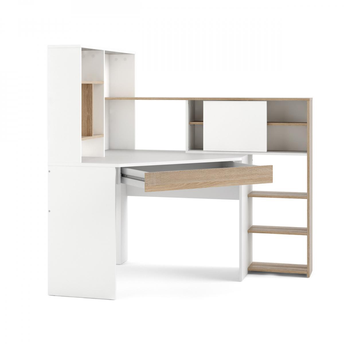 Psací stůl Felix 482 bílá/oak