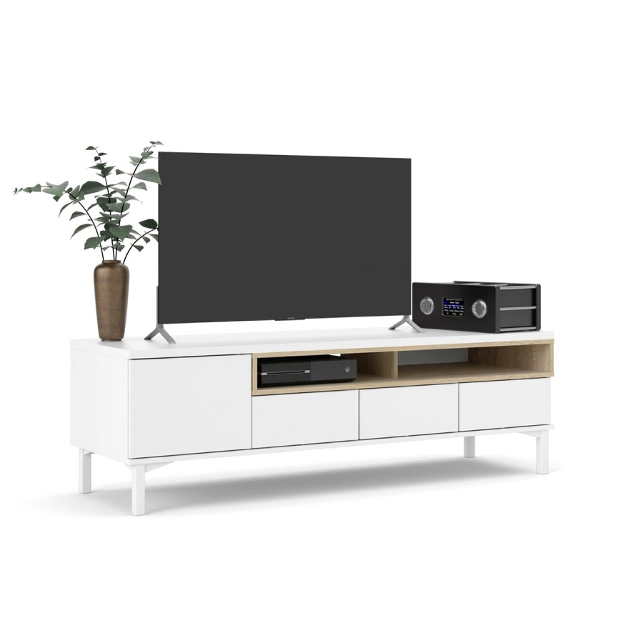 TV stolek Atrei 179 bílá/dub