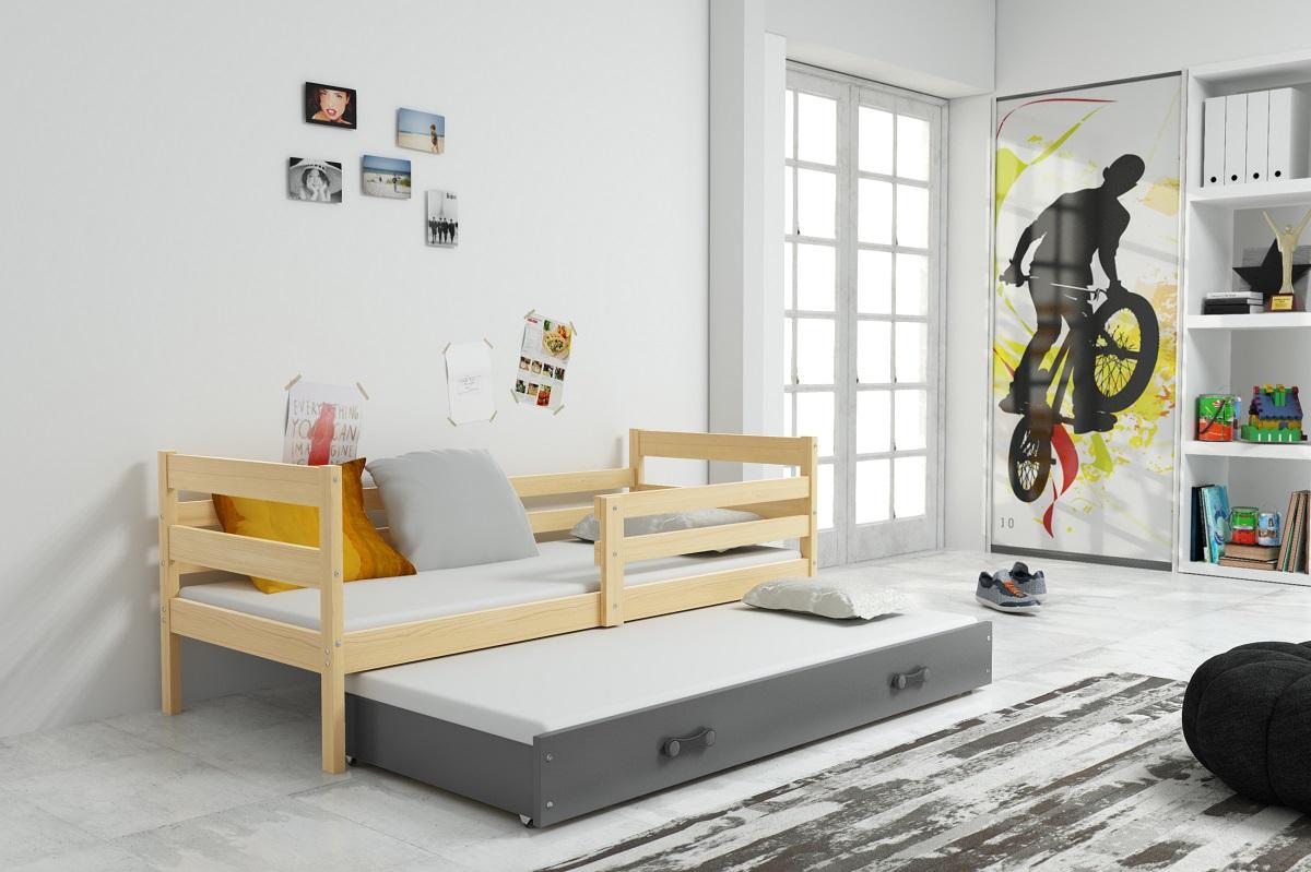 Postel s přistýlkou Norbert II 90x200 borovice/grafit
