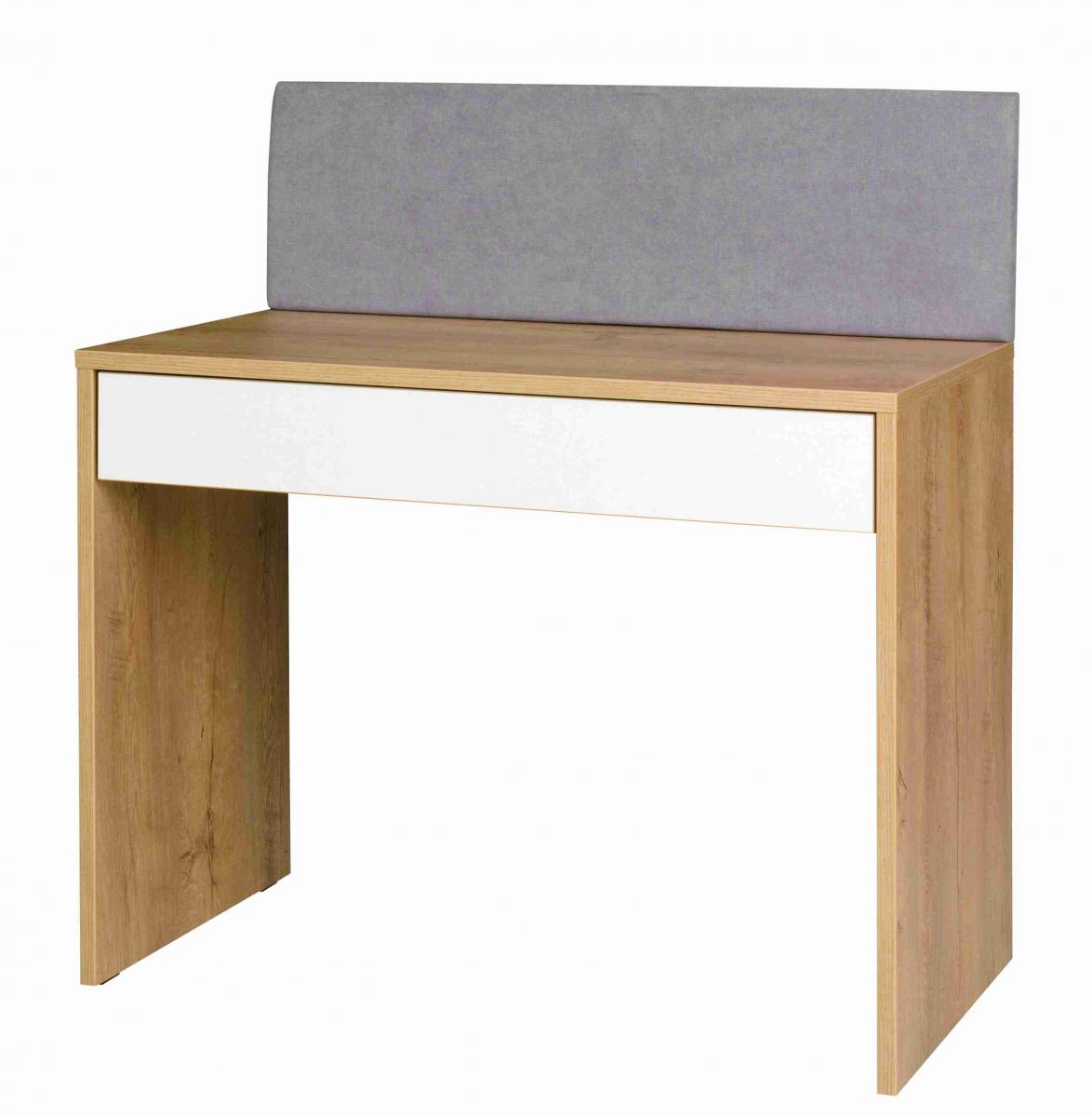 Psací stůl Mefisto R6 dub lefkas/bílá/šedá