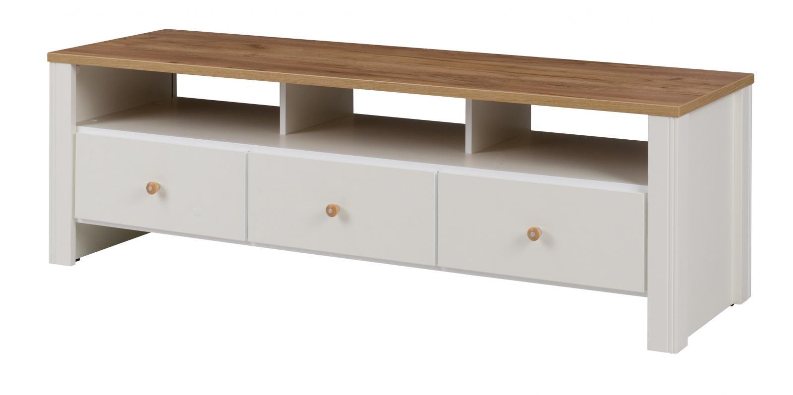 TV stolek Bacardi R5 dub zlatý/crem